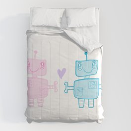 robots in love Comforters