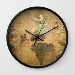 Henri de Toulouse-Lautrec - La danse mauresque by Henri de Toulouse-Lautrec Wall Clock