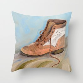 Shoe made for walking Throw Pillow
