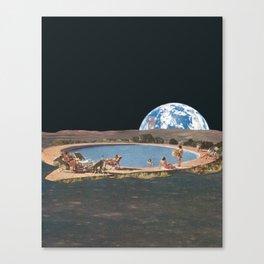 Sumer on the moon Canvas Print