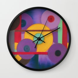 Vinil Discotheque, Abstract pastel painting Wall Clock