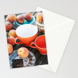 Peaches at teatime Stationery Cards