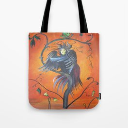 Gamaun The Prophetic Bird With Ruffled Feathers Tote Bag