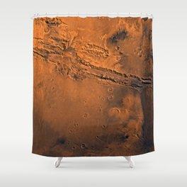 Valles Marineris, Mars Shower Curtain
