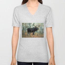 Huge Moose Unisex V-Neck