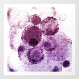 Purple Watercolor Spots Art Print