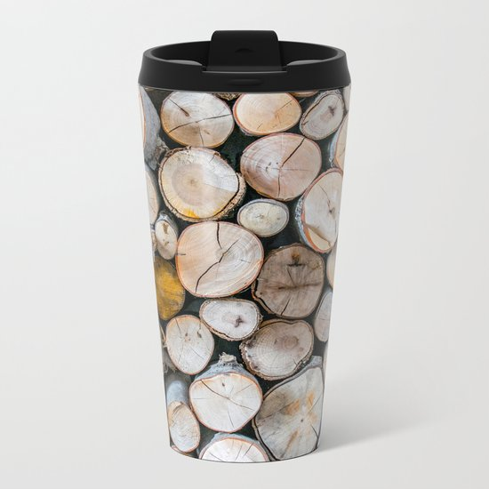 Logged Metal Travel Mug