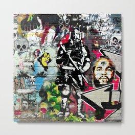 Messy Graffiti Metal Print