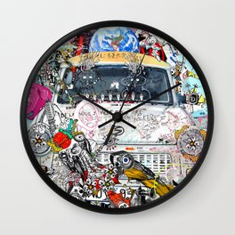 Jx3 - The Shower Curtain Wall Clock