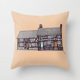 'Suffolk' House print Throw Pillow