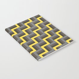 Plus Five Volts - Geometric Repeat Pattern Notebook