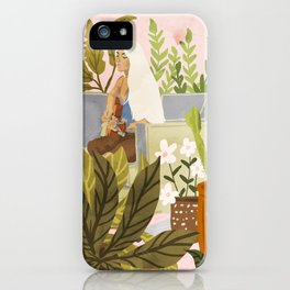 Playing For My Plants iPhone Case