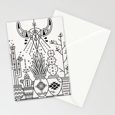 Santa Fe Garden – Black Ink Stationery Cards