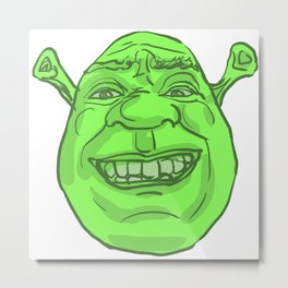Shrek's Face Metal Print