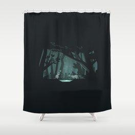 Chasing fireflies Shower Curtain