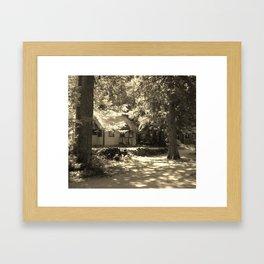 easing into fall Framed Art Print