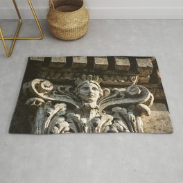 Uptown Chicago Architectural Detail Stone Face  Rug