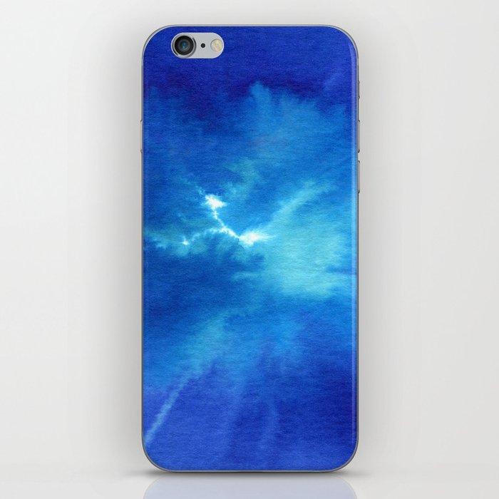 Blue Powder iPhone Skin