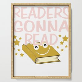 Reading book gift bookworm library books Serving Tray