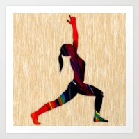 fitness Art Prints featuring Fitness by marvinblaine