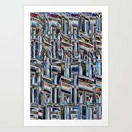 Reflections in The Bourse Leeds mirror reflective glass Art Print