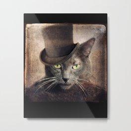 Gray Cat Russian Blue - Captain Grey Metal Print