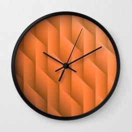 Gradient Orange Diamonds Geometric Shapes Wall Clock