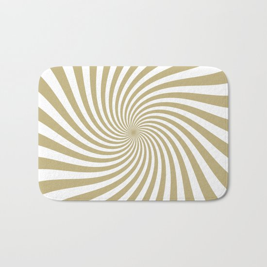 Swirl (Sand/White) Bath Mat