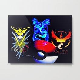 Teams Valor Mystic and Instinct Metal Print