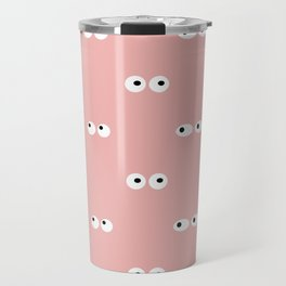 Eyes Print Peach - Girl Gang Print Travel Mug