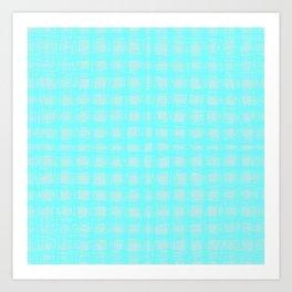 woven cables, blue Art Print