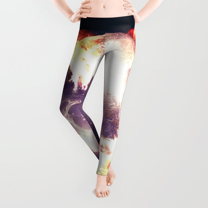 Burning Planet Leggings