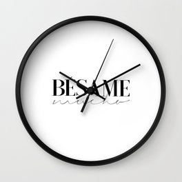 BESAME MUCHO SIGN, Love Quote,Love Art,Wedding Quote,Girls Room Decor,Girly Svg,Lovely Words,Modern Wall Clock