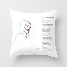 Awakening Divine Self Worth, sketch of Jesus 2 Throw Pillow