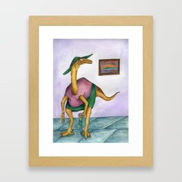 Dressy Dinosaur - Shirley Framed Art Print