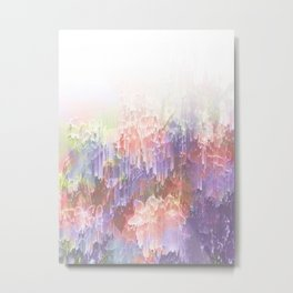 Frozen Magical Nature - Peach and Ultra-Violet Metal Print