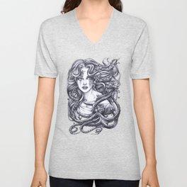 Mermaid & Her Octopus Unisex V-Neck