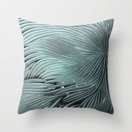 Red composition of multiple directional lines. Throw Pillow