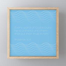 Proverbs 30:5 Framed Mini Art Print