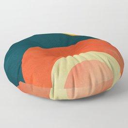 mid century geometric abstract autumn 2 Floor Pillow