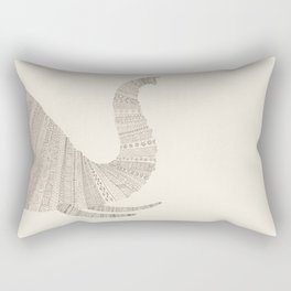 Elephant (On Paper) Rectangular Pillow