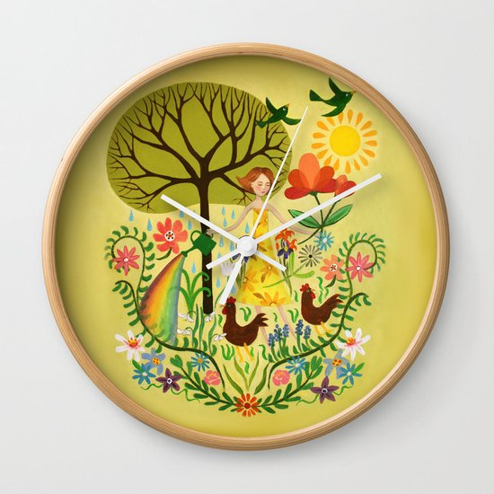 Julia's Garden Wall Clock