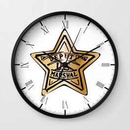 Deputy US Marshal Star Wall Clock