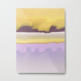 Abstract yellow Metal Print