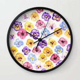 Pansy Party Wall Clock