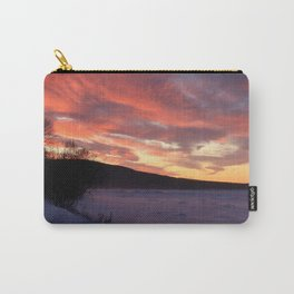 Wintry Sunset over the Porkies Carry-All Pouch