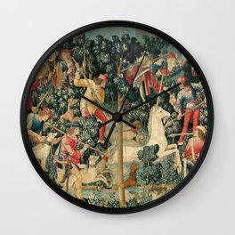 The Unicorn is Attacked Wall Clock