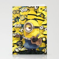 minions Stationery Cards featuring MINIONS by DisPrints