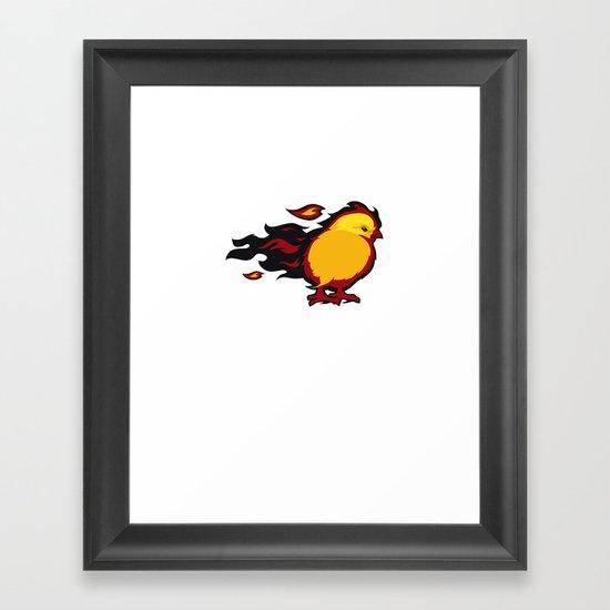 Firechicken Framed Art Print
