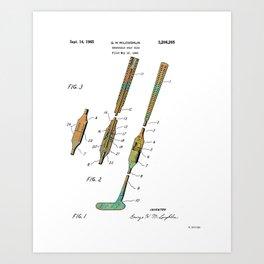 Foldable Golf Club Art Print